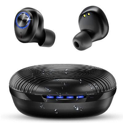 Bakibo Bluetooth-Kopfhörer inEar IPX7 mit Ladebox und Mikrofon für 17,99€ (statt 27,99€)