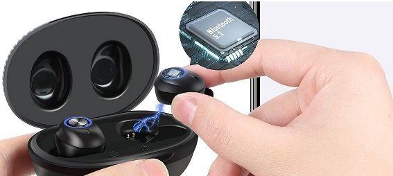 Bakibo Bluetooth Kopfhörer inEar IPX7 mit Ladebox und Mikrofon für 17,99€ (statt 27,99€)