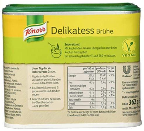 6er Pack Knorr Delikatess Brühe (je 362g) ab 12,44€ (statt 18€)   Prime