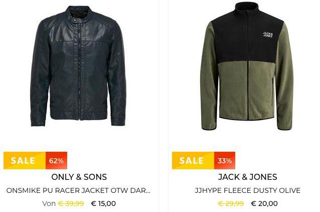 🔥 Restposten: Jacken von Jack & Jones und vielen mehr in Restgrößen bereits ab 9€