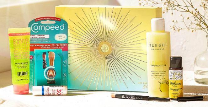 Glossybox Beautybox im 1 Monat Flex Abo für 15€ + 2. Box Let The Sun Shine Edition + Feuchtigkeits Spray gratis dazu
