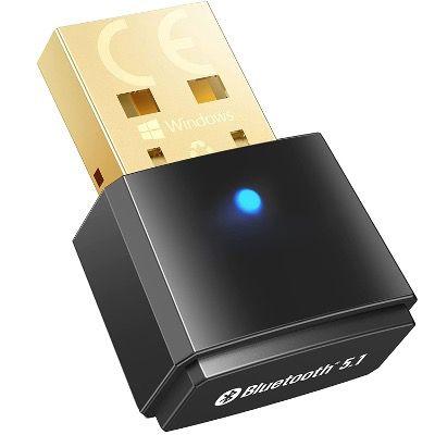 MWAudioNY Bluetooth 5.1 USB-Adapter Plug and Play zum Senden und Empfangen für 7,99€ (statt 15€)