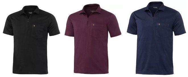 2x Henson&Henson Herren Poloshirt mit Zipper als Kurzarm für 27,99€ (statt 43€)