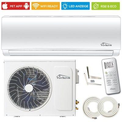 TroniTechnik Split-Klimaanlage 9000 BTU 4in1 Smart mit 5m Schlauch für 399€ (statt 479€)