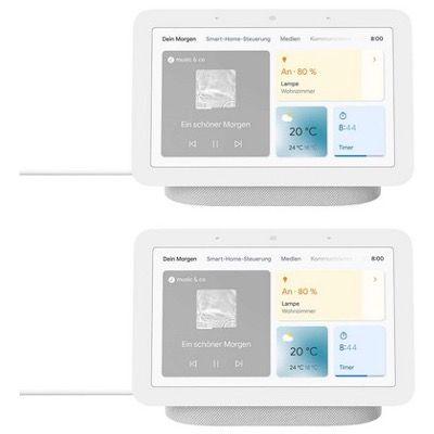 2er-Pack Google Nest Hub Smart Display mit Sprachsteuerung 2. Gen. für 139€ (statt 152€) + 6 Monate Spotify