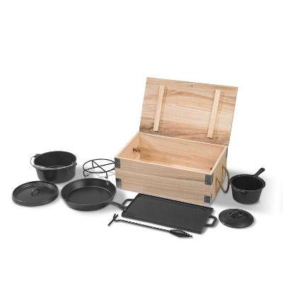 Grillmeister 7-teiliges Dutch-Oven-Set für 59,99€ (statt 80€)
