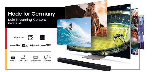 Samsung Crystal UltraHD 4K 55 Fernseher GU55AU7179UXZG für 470,34€ (statt 519€)