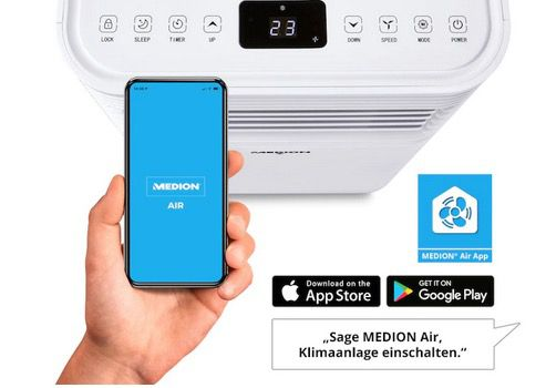 Medion Klimaanlage MD37215 7.000 BTU mit App  und Sprachsteuerung für 249,95€ (statt 288€)
