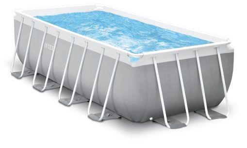Intex Frame Prism Rectangular Pool 400x200x122cm inkl. Filteranlage und Leiter für 655,99€ (statt 799€)
