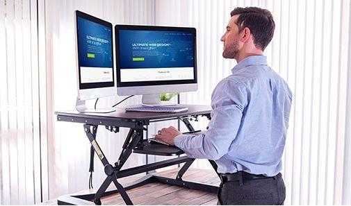 Flexispot Sitz Steh Schreibtisch mit 72cm oder 88cm Breite ab 111,99€ (statt 160€)