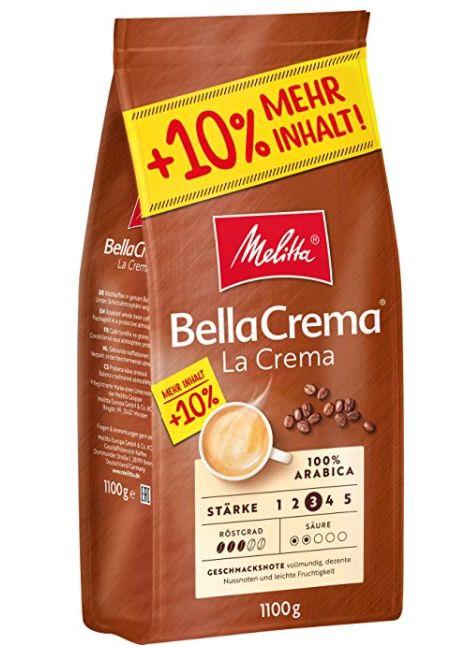 1,1kg Melitta Ganze Kaffeebohnen 100% Arabica vollmundig und ausgewogen Stärke 3 für 8,49€ (statt 12€)