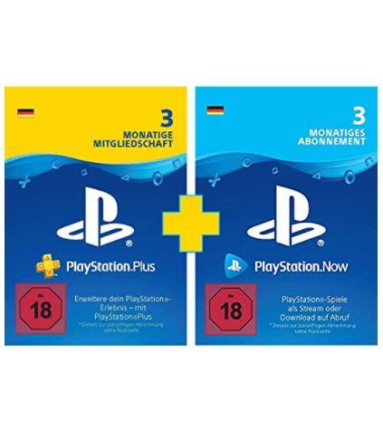 3 Monate PlayStation Plus + 3 Monate Now für 34,99€