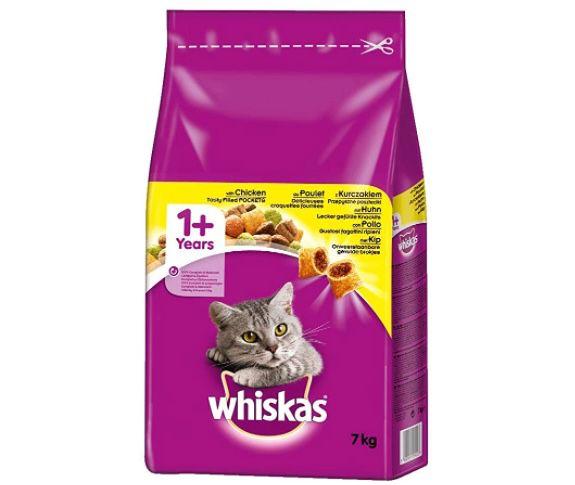 7kg Whiskas Katzen Trockenfutter Adult 1+ mit Huhn für 11,99€ (statt 18€)