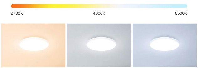 Etersky LED Deckenleuchte dimmbar 24W und RGBW Farbwechsel mit Alexa & Google Home für 31,49€ (statt 45€)