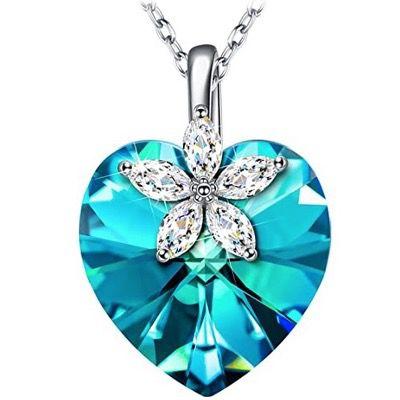 Alex Perry Halskette Bauhinia-Blüte aus 925er Sterling-Silber und Kristall für 16€ (statt 50€)