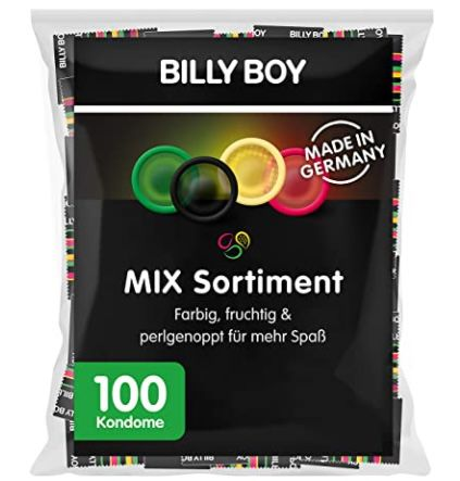 100er Pack Billy Boy Kondome Mix-Sortiment Großpackung für 17,99€ (statt 25€)
