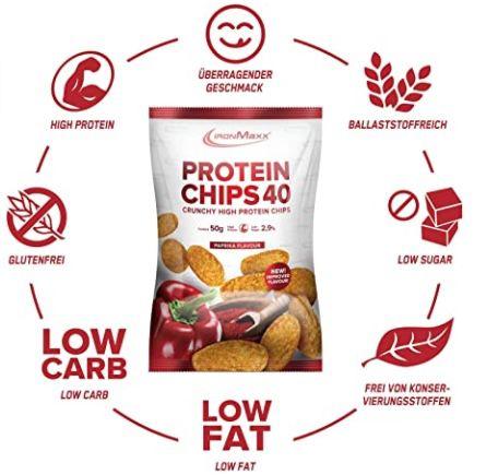 10er Pack IronMaxx Protein Chips Paprika für 12,49€(statt 20€)