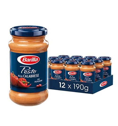 12er Pack Barilla rotes Pesto alla Calabrese für 23,79€ (statt 35€) oder alla Genovese für 21,99€