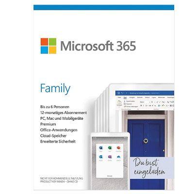 Microsoft 365 Family Jahresabonnement für 6 Nutzer für 44,64€ (statt 55€)