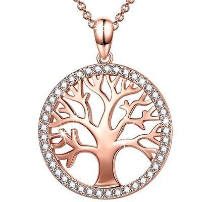 Sellot Damen-Halskette mit Lebensbaum-Anhänger aus 925er Sterling-Silber mit Zirkonia für 14,99€ (statt 29€)
