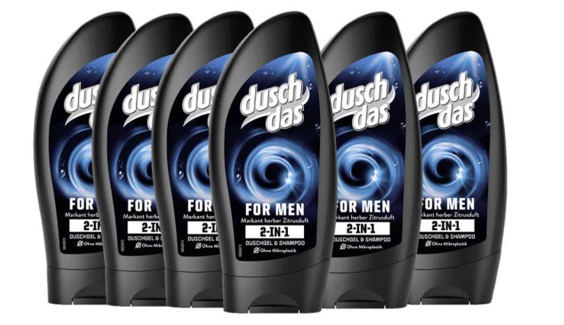 30x Duschdas For Men 2 in 1 Duschgel & Shampoo für 26,25€   nur 0,88€ je Stück