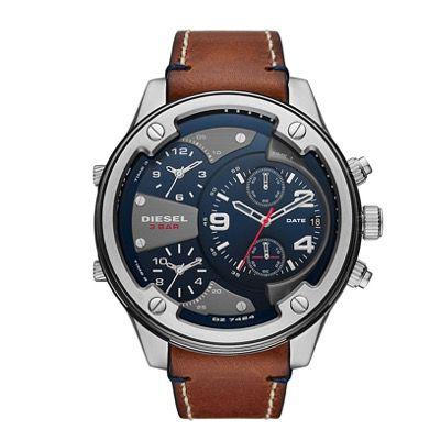 Diesel Herren Uhr Boltdown in Braun-Silbergrau für 115€ (statt 190€)
