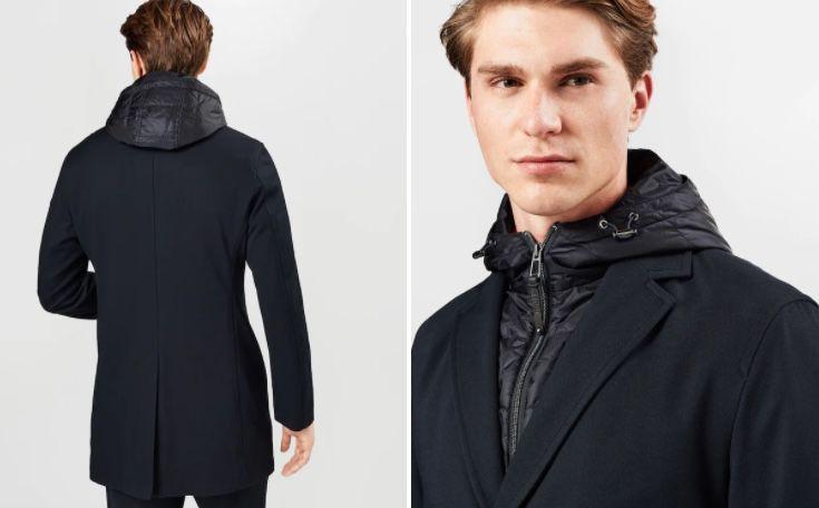 JOOP! Herren Mantel Yanek in Nachtblau für 115€ (statt 175€)