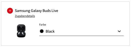 Samsung Galaxy Watch Active + Galaxy Buds Live für 1€ mit Vodafone Allnet Flat inkl. 10GB LTE für 19,99€ mtl.