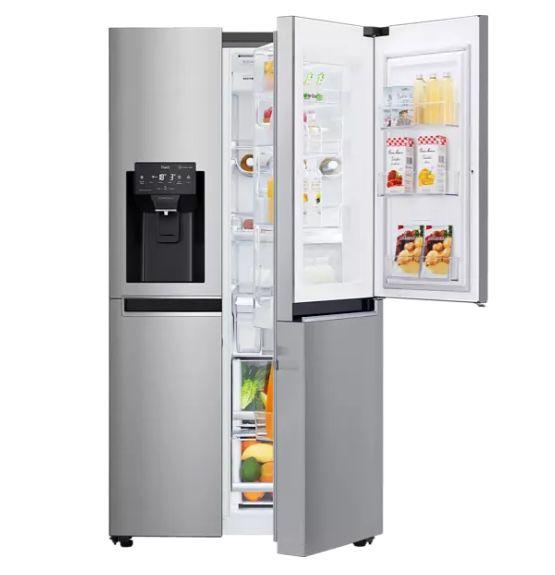 LG GSJ761PZEE Side-by-Side mit NoFrost, Eiswürfel- & Wasserspender für 1.179€ (statt 1.289€) + 100€ Cashback