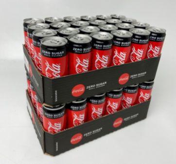 MHD-Ware: 48er Pack Coca-Cola Zero (je 0,33L) für 23,99€ inkl. Pfand (!) – nur 0,25€ pro Dose