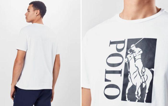 Polo Ralph Lauren T Shirt in Weiß mit großem Polo Logo für 34,95€ (statt 45€)