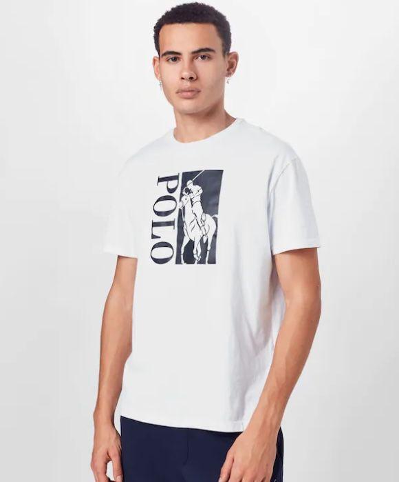 Polo Ralph Lauren T-Shirt in Weiß mit großem Polo-Logo für 34,95€ (statt 45€)