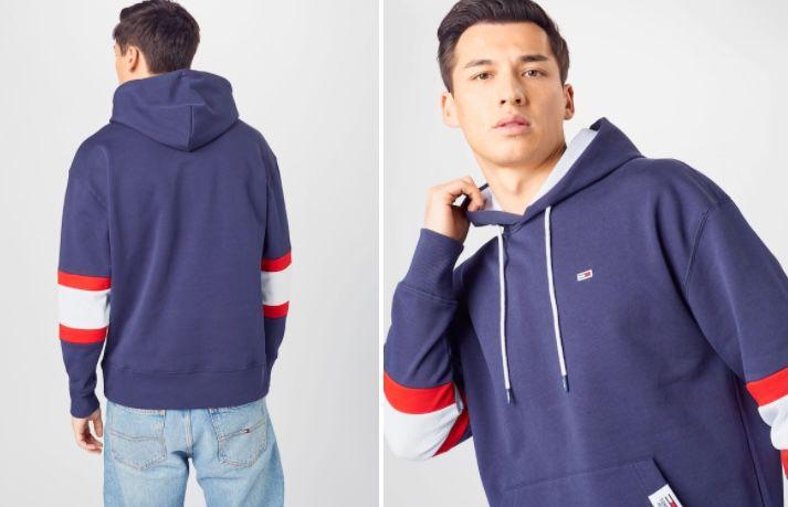 Tommy Jeans Herren Hoodie mit Kängurutaschen für 39,90€ (statt 60€)