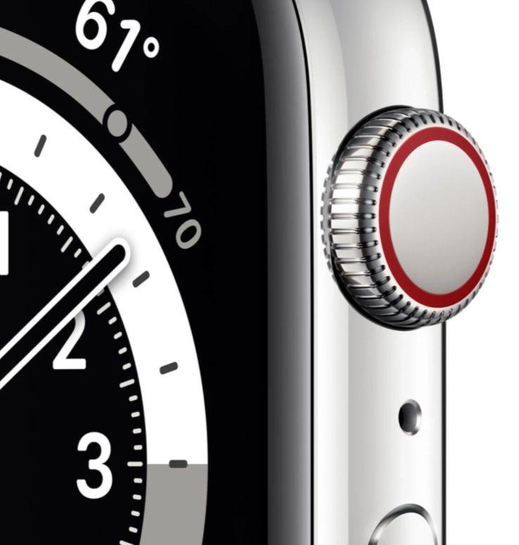 Apple Watch Series 6 LTE 44mm Edelstahlgehäuse mit Milanaise Armband für 691,84€ (statt 798€)
