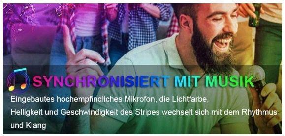 RLBUNZ Bluetooth LED Strip 5 Meter mit RGB, App und Sync mit Musik für 11,69€ (statt 18€)