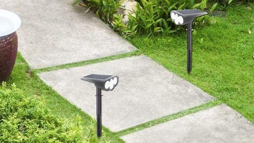 Doppelpack Jorft Solarlampen für Garten 1800mAh mit 39 LEDs wasserdicht für 16,49€ (statt 30€)