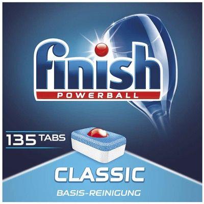Finish Classic Spülmaschinentabs Sparpack mit 135 Tabs ab 11,99€ (statt 20€)   Prime Sparabo