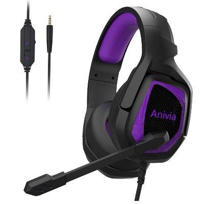 Anivia Gaming Over Ear Kopfhörer mit Mikrofon und Surround Sound für PS4, Xbox oder PC für 9,89€ (statt 22€)
