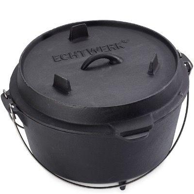 Echtwerk Schmortopf Dutch Oven aus Gusseisen mit 8 Litern für 39,99€ (statt 69€)