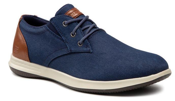 Skechers Darlow Remego Schnürschuh in Blau für 53€ (statt 64€)