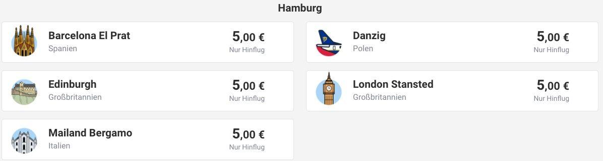 Ryanair: Oneway Flüge für nur 5€ nach Spanien, Frankreich, Portugal uvm.