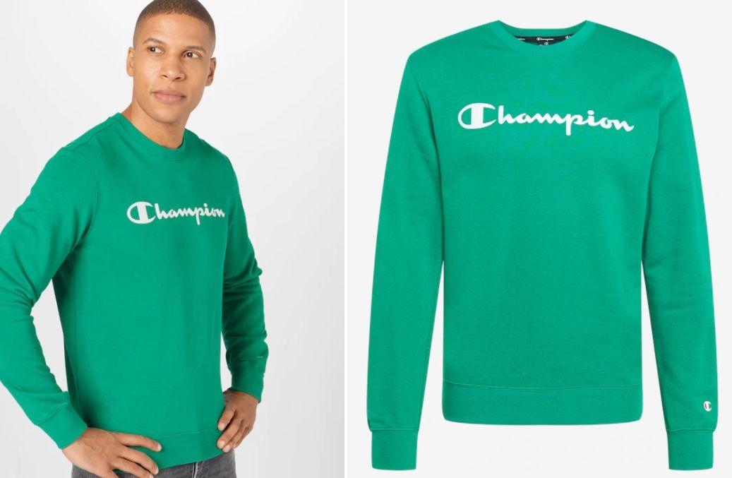 Champion Crewneck Herren Sweatshirt in Grün für 19,92€ (statt 32€)   S, M, L