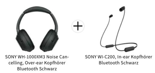Sony WH 1000XM3 Noise Cancelling Kopfhörer + SONY WI C200 für 189,80€ (statt 234€)