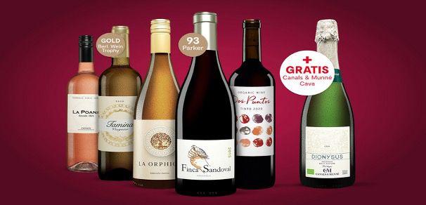 🔥 Vinos Online Weinprobe inkl. 5x Flaschen Wein und 1x Cava ab 32€ (statt 72€)