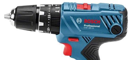 Bosch GSB 18V 21 Professional Schlagbohrschrauber mit 3x 2,0Ah + Ladegerät für 161,99€ (statt 190€)