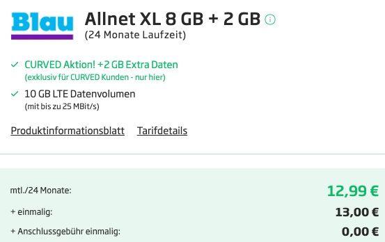 Xiaomi Redmi Note 10 5G 64GB + EarbudsBasic 2 für 13€ mit o2 Flat von Blau mit 10GB LTE für 12,99€ mtl.