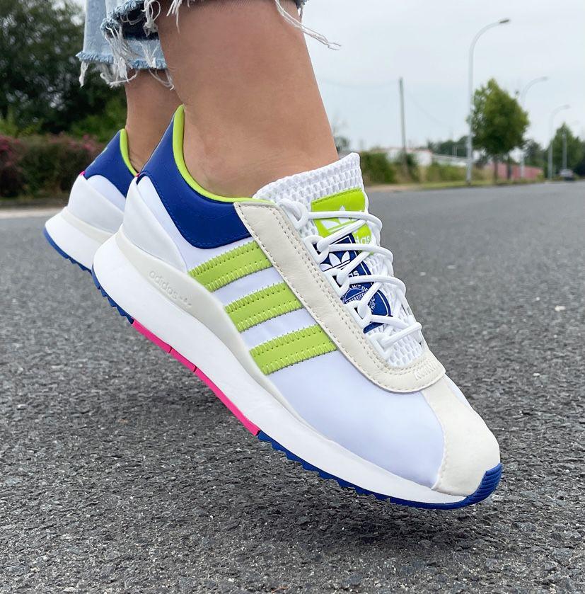 adidas SL Andridge Damen Sneaker in Cloud White-Yellow für 43,94€ (statt 61€)