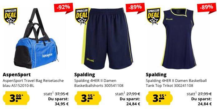🔥 SportSpar Restgrößen Sale bereits ab nur 0,50€ + 5€ Gutschein ab 60€