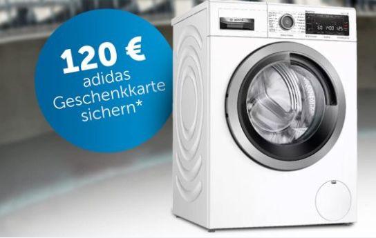Saturn: bis 120€ Bonus (adidas Gutschein) beim Kauf einer Bosch Waschmaschine / Trockner