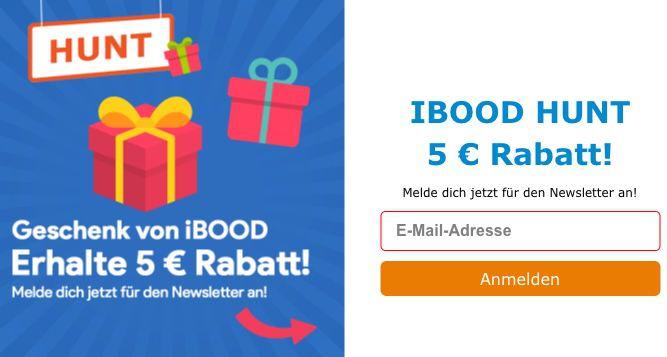 Tipp! iBOOD Hunt 🔥  Restbestände & Schnäppchen im Minutentakt + 5€ Gutschein
